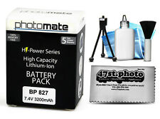 Photomate BP827 BP-827 3200mAh Battery for Canon HF G10 M30 M31 M32 M300 M40 M41