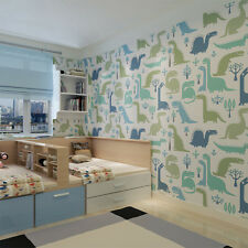 Environmental Friendly Anime Curves and Trees Wallpaper Roll Kids Wallcovering