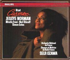 BIZET CARMEN Jessye Norman Neil Shicoff Mirella Freni Estes SEIJI OZAWA 3CD 1989