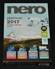 NEW Nero Platinum 2017 HD Multimedia Suite - Full Version - Retail Box Software