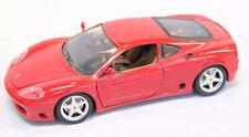 Ferrari 360 Modena 1/18 model car Burago brand red #10932