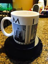 Starbucks Barista 2005 Coffee Tea Cup Mug 18 oz Miami City Scenes Series EUC