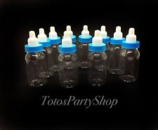 24 Fillable Tall Bottles For Baby Shower Favors Blue Party Decorations Boy