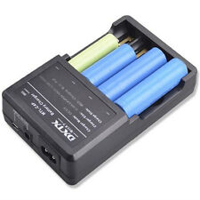 NUOVO Intelligent Multi CARICABATTERIE BATTERY CHARGER PER 4x 18650, 2x 18550 3.7v BATTERIA