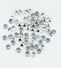 DIY 100pcs 6mm Clear Resin Crystal beads Point back Rhinestones Strass NEW