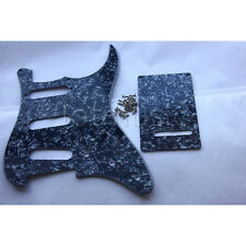 Guitar Pickguard Backplate Trem Cover For Fender Strat Replacement-Black Pearl