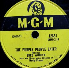 1254/ SHEB WOOLEY-The purple people eater-I can´t  believe you´re mine-Schellack