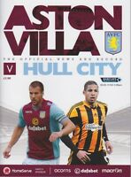 ASTON VILLA v HULL CITY 2013/14 MINT PROGRAMME 2014