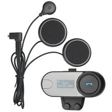 800M BT Interphone Motorcycle Helmet Bluetooth Intercom Headset FM+LCD Screen