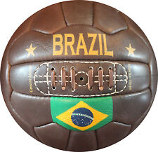 Brazil - Vintage Leather Soccer Ball 1966 -- 100% leather