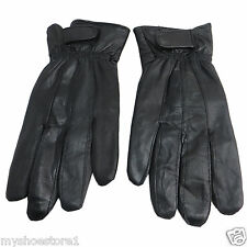 LADIES WOMEN 100% REAL LEATHER GLOVES SOFT SHEEPSKIN THERMAL FLEECE LINED VELCRO