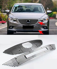 Front Grille Around Trim for 2013-2014 Mazda 6 M6 Atenza Full Set Stainless
