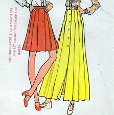 """Vintage 70s SKIRT Sewing Pattern Waist 25"""" Size 8 MAXI Retro PLEATED Evening"""