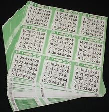 BINGO PAPER Cards 9 on, Green Border 100 sheets FREE PRIORITY SHIPPING