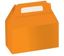 2 x Arancio Halloween COOKIE/CANDY scatole torta scatola regalo scatole regalo Favore