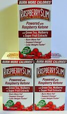 3 BOTTLES Raspberry Slim Natural Weight Loss Raspberry Ketone w/Green Tea DIET 2