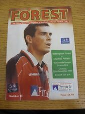 22/11/1997 Nottingham Forest v Charlton Athletic [Championship Season] (Slight F