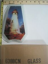 FREE US SHIPPING ok touch lamp replacement glass panel Lighthouse 638-BCN