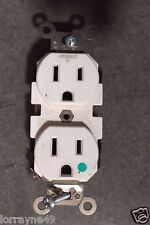 Leviton 8200-W Hospital Grade Duplex Receptacle 2-Pole 3-Wire Grounded 15A-125V