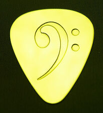 BASS  CLEF - Solid Brass Guitar Pick, Acoustic, Electric, Bass