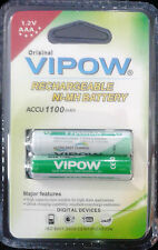 Vipow Ni-Mh AAA Rechargeable Battery 1100mah 1.2V 2 pack of 4 Pieces Original