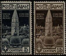 Regno - 1912 - Campanile di San Marco - nuovi - MNH - Sassone n.97/98