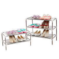 2 Tier Shoe Storage Rack Stand Organize Cabinet Shelf Easy Assemble for 6 Pairs