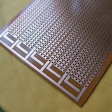 5x pcb 8.5x20cm 4er Streifenraster Veroboard Lochraster Platine Leiterplatte