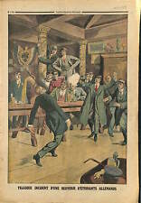 Brewery Berlin Student League of Germany Etudiants Allemagne 1913 ILLUSTRATION