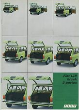 (36B) CATALOGUE FIAT 128 break 3 portes
