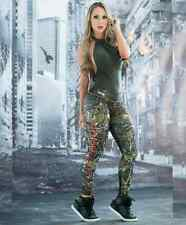FIBER LEGGING POISON IVY PRINT  Gym New Athletic Apparel Active wear Lift Shape