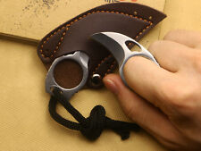 """1x 0.78"""" DIA Bear Claw Knife Cute all Steel Finger Hole Travel tool Gift New"""