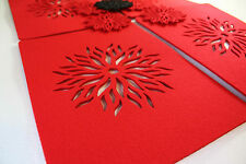 Placemats & Coaster Flames Aster Flower Felt Table Mats Set of 12 pieces