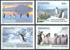 Mongolia 1997 Penguins/Antarctic/Birds/Nature/Greenpeace/Conservation 4v (b6703)