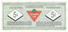 Canada / Canadian Tire 5 Cents , ND. 1990's  Circulated Banknote , M8