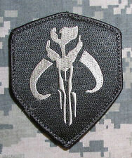 MANDALORIAN BANTHA SKULL STAR WAR BOUNTY HUNTER BOBA FETT ACU LIGHT VELCRO PATCH