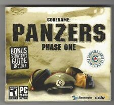 CODENAME: PANZERS PHASE ONE PC CD-ROM 2004