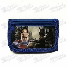 Marvel Batman vs Superman Teen Boys Blue Tri-Fold Wallet