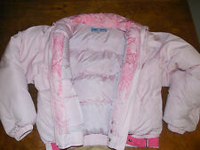 OBERMEYER SKI COAT Pink Puffy Down-filled Bunny Vintage 80s 90s Womens 12 M L