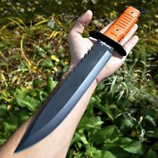 "16"" Hunting Survival Combat Tactical Fixed Blade Knife w/ Sheath Machete Bowie"