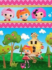 LALALOOPSY CUTE AS A BUTTON DOLLS STRIPE FABRIC