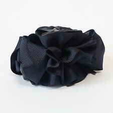 Handmade Grosgrain Flower Bow Two Tone Hair Jaw Claw Clip