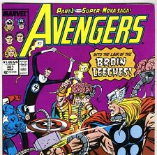 The AVENGERS #301 with Captain America & Thor from Mar 1989 in VF con NS