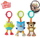 Bright Starts cute animal frog owl dog take & shake baby toy rattle gift 1pc