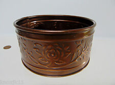"""NEW Hosley Pressed Tin COPPER DISH 6.5""""R Candle Holder Planter Centerpiece NWT!"""