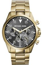 NEW MICHAEL KORS MK8361 MENS GOLD GAGE WATCH - 2 YEAR WARRANTY