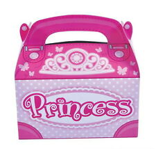 24 PINK PRINCESS PARTY TREAT BOXES FAVORS GOODY BAG  PRIZE GIFT CARNIVAL TOYS