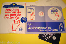VINTAGE 1970'S UNITED STATES STEEL CORP. USS EMPLOYEE DECALS,BUTTON & CATALOG !!