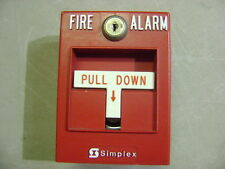 SIMPLEX FIRE ALARM RED ADDRESSABLE MANUAL LEVER PULL STATION 2099-9795