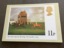 "ROYAL MAIL ""HORSE RACING - NEWMARKET"" STAMP PHQ POSTCARD"